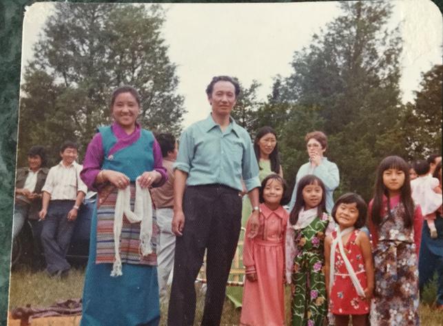 Tibetans enjoying festivities in Belleville, ON.