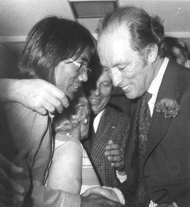 Tsering Dorjee Wangkhang, one of the first two Tibetans to arrive in Canada, meeting with Prime Minister Pierre Elliot Trudeau in the early 1970s.   Tsering came to Canada through the Bata Shoe Factory. He arrived in Trenton, Ontario and later settled in Belleville.   17/24