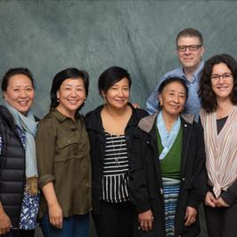Pictured (left to right): Lhamo Chhoyang, Dicki Chhoyang, Sonam Matho, Pema Matho, Darryl LeBlanc and Emily Burton.