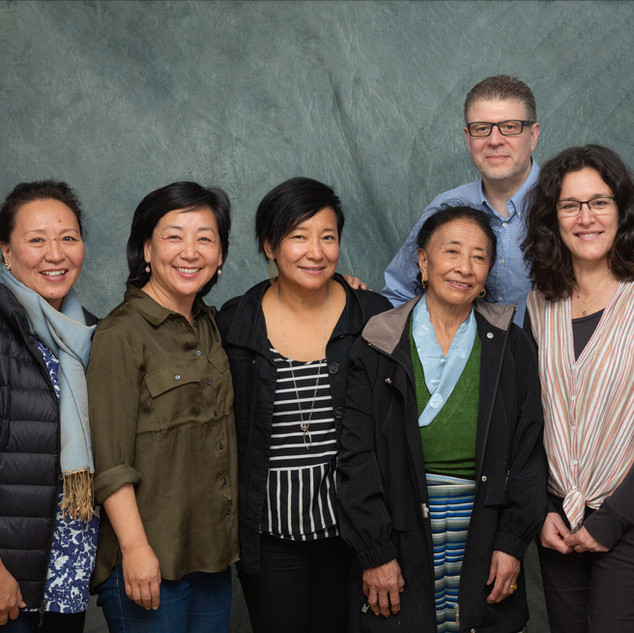 Pictured (left to right): Lhamo Chhoyang, Dicki Chhoyang, Sonam Matho, Pema Matho, Darryl LeBlanc and Emily Burton.