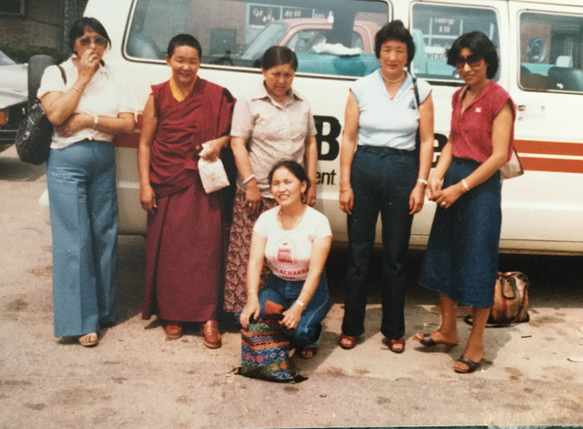 Tibetans enjoying an outing in Belleville, ON.