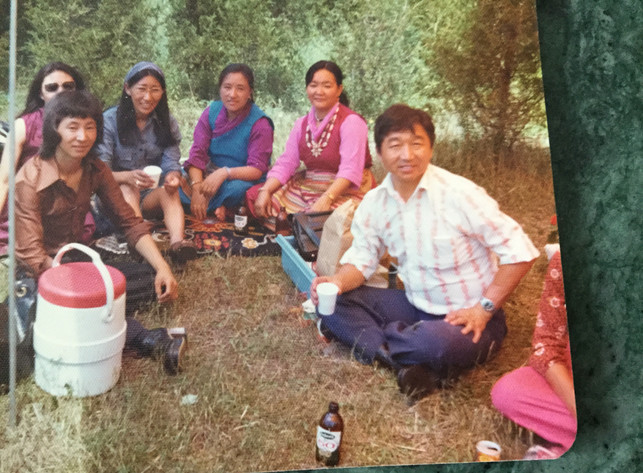 Tibetans enjoying a picnic in Belleville, ON.