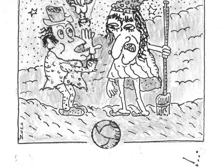 A bola passa para Zuca Sardan