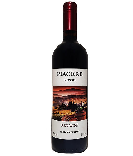 Vinho Italiano Piacere Rosso 750 mL