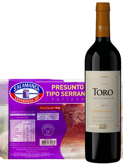 Kit harmonizado Toro Tempranillo e Presunto Serrano Fatiado