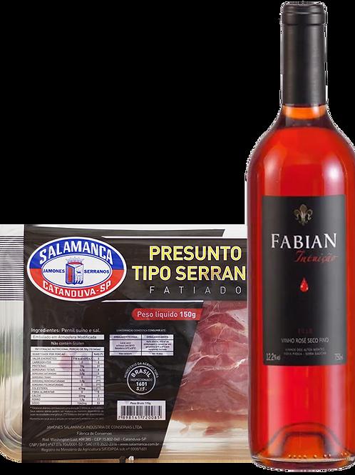 Fabian Intuição Rosé e Jamón Cry Fatiado Cartela 150 g