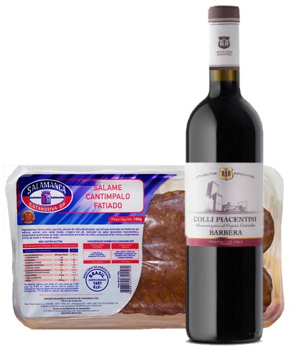 Vinho Italiano Barbera Colli Piacentini e Salame Cantimpalo