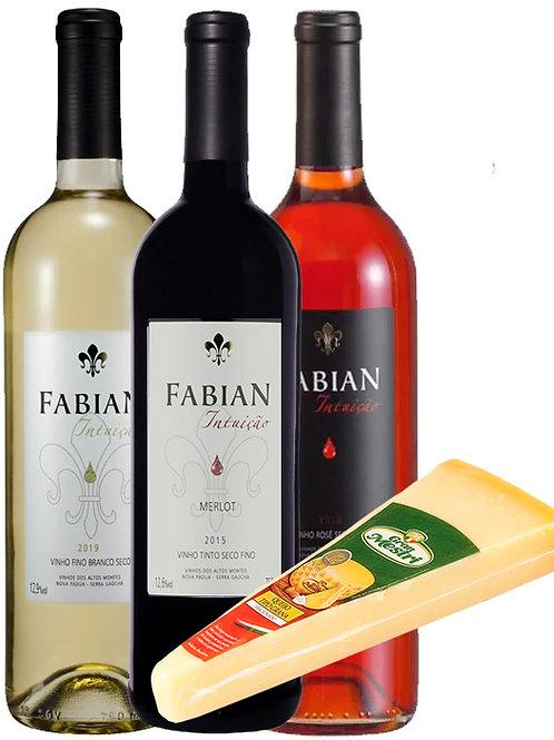 Kit Vinhos Brasileiros e Queijo Grana Padano