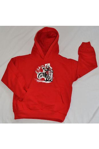 OSET KIDS GRAPHIC HOODIE - RED