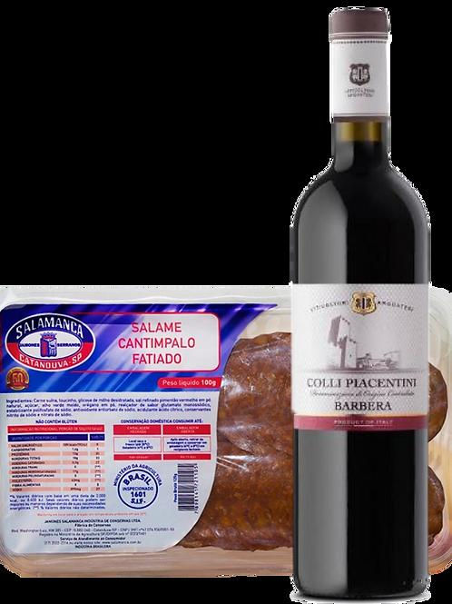 Vinho Colli Piacentini e Salame Cantimpalo Fatiado 100 g