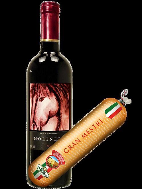 Kit Molinero Cabernet Sauvignon e Provolone Defumado Gran Mestri