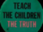 Canva - Pinback button reading Teach the