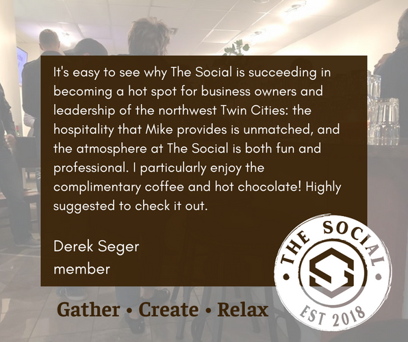 Derek Seger Testimonial for The Social