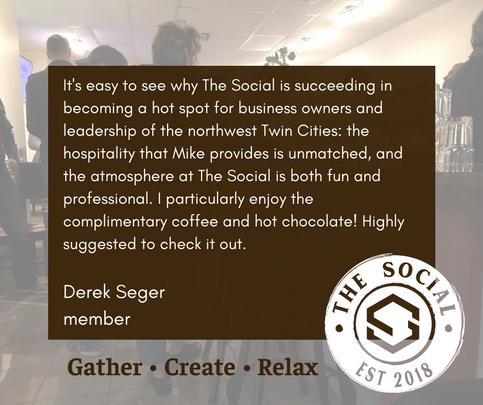 Derek Seger Testimonial for The Social
