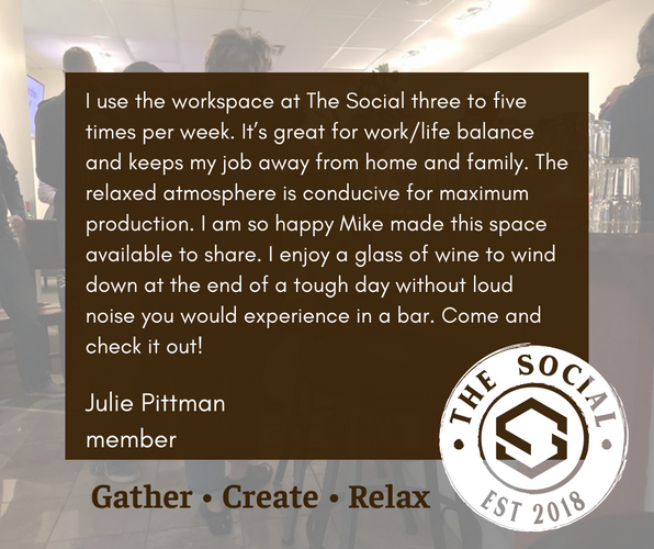 Julie Pittman Testimonial for The Social