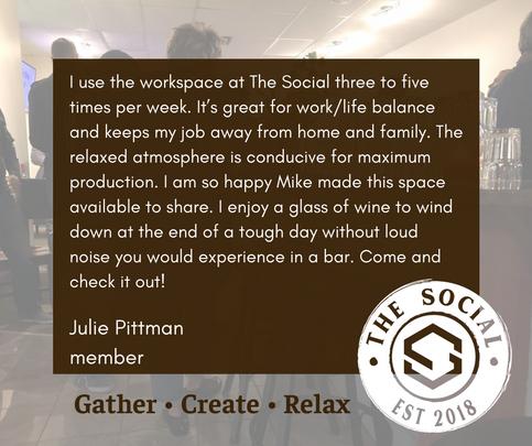 Julie Pittman Testimonial for The Social
