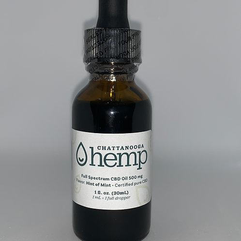 1 fl oz Tincture - HINT OF MINT 500 mg