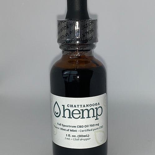1 fl oz Tincture - HINT OF MINT 750 mg