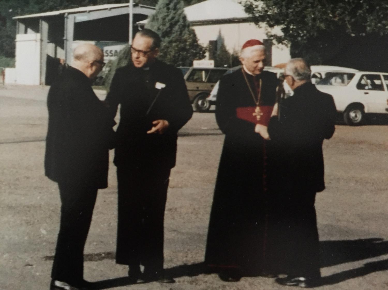 Con el Cardenal Ratzinger
