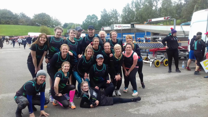 Our team at the Dragonboat Nationals in Nottingham