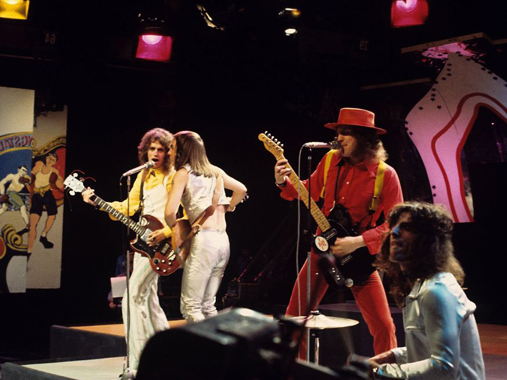Slade performing on Top of the Pops