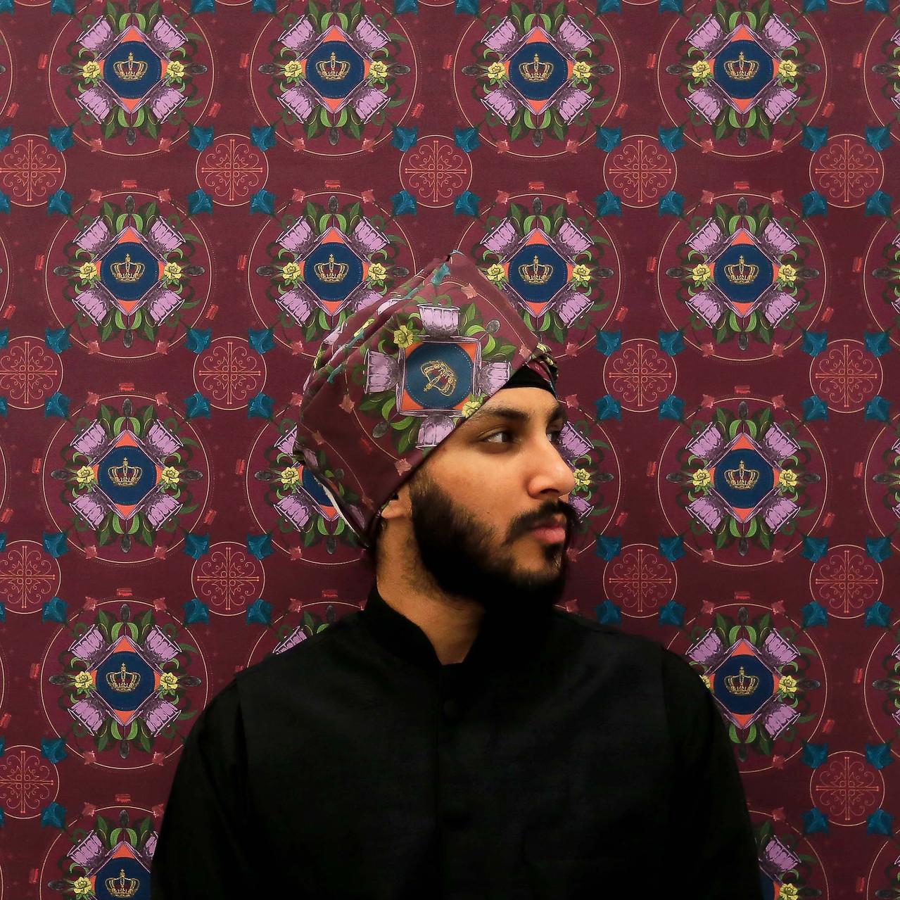 'Interwoven' a pattern and fabric art portrait project by Birmingham artist Farwa Moledina