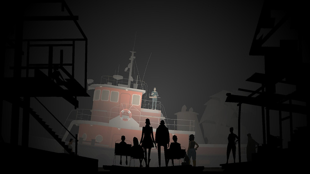 A still from the video game Kentucky Route Zero.