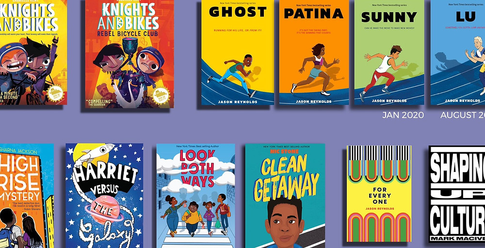 A selection of books from Knights Of, a radically inclusive children's publisher looking to smash ethnic and class barriers to diverse literature. Includes 'High Rise Mystery', 'Look Both Ways', 'Clean Getaway', and more.