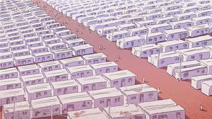 Nizip refugee camp, Turkey (Still: 'Bury Me My Love' dev. The Pixel Hunt)