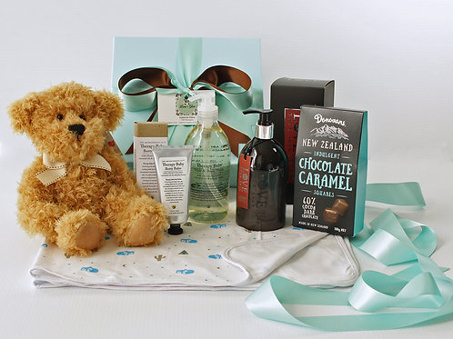 baby gift baskets, gifts for new baby & mum, baby boy gift baskets Orewa Auckland, baby boy gift hampers