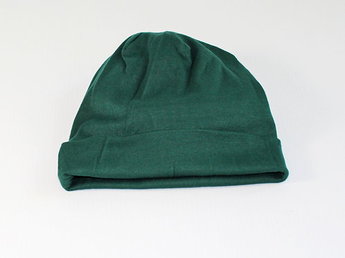 soft cotton cancer beanie, great for sleeping keeps head warm, catches loose hair if falling out due to treatment, day wear