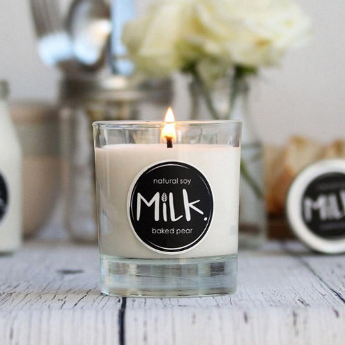 Deliciously scented baked pear soy candle to add to your customised gift hamper