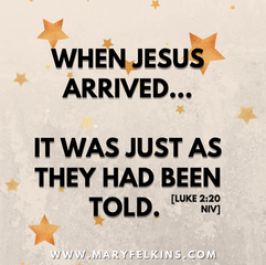 Jesus's Arrival: It Was Just As They Had Been Told.