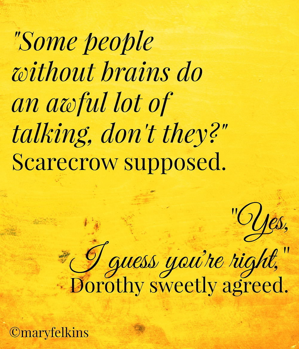 Why Dorothy Missed the Scarecrow Most of All-picmonkey