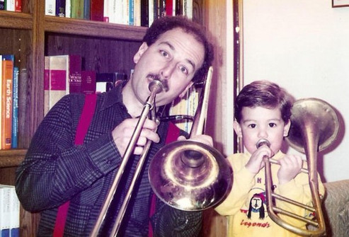 With Dad, circa 1993