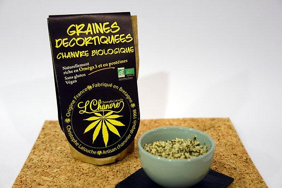 Graines décortiquées Bio de chanvre