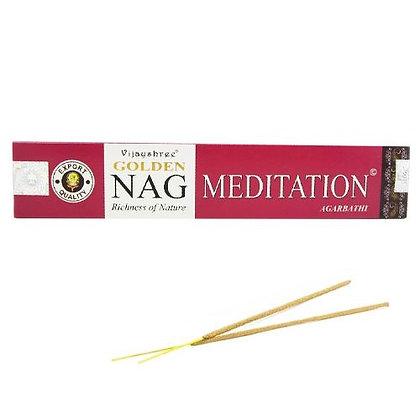 """Encens naturels Golden Nag """"Meditation"""""""