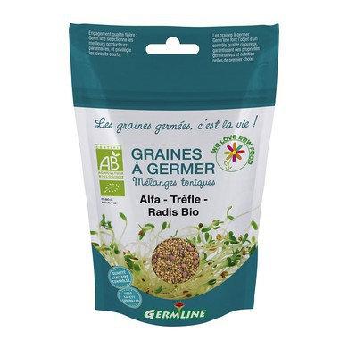 Mélange de graines bio Alfa-Trèfle-Radis à germer
