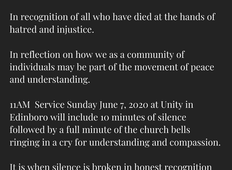 Sunday Service June 7, 2020