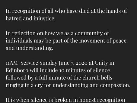 Sunday Service June 7, 2020