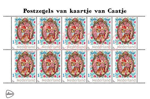 Postzegelvel 4