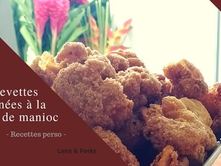 Crevettes panées à la farine de manioc