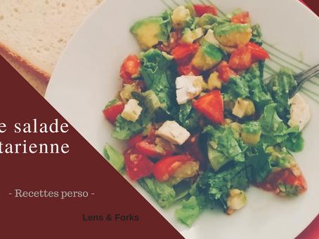 Une petite salade végétarienne pour le dîner