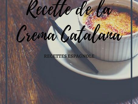 "Recette de la ""Crema Catalana"""