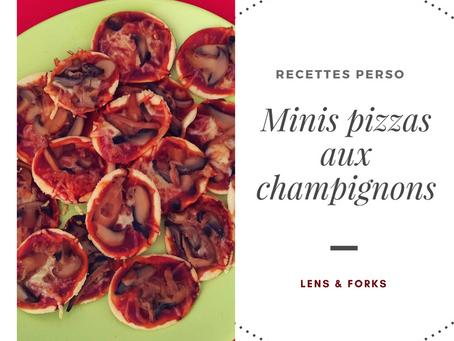 Minis pizzas aux champignons
