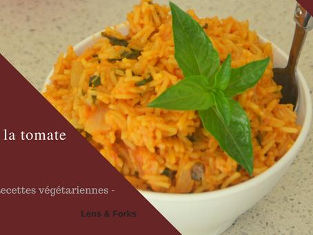 Riz à la tomate végétalien