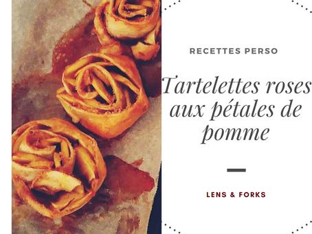Tartelettes, roses aux pétales de pomme