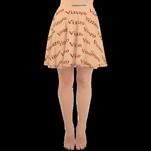 Vinaro Women Skater Skirt Nude