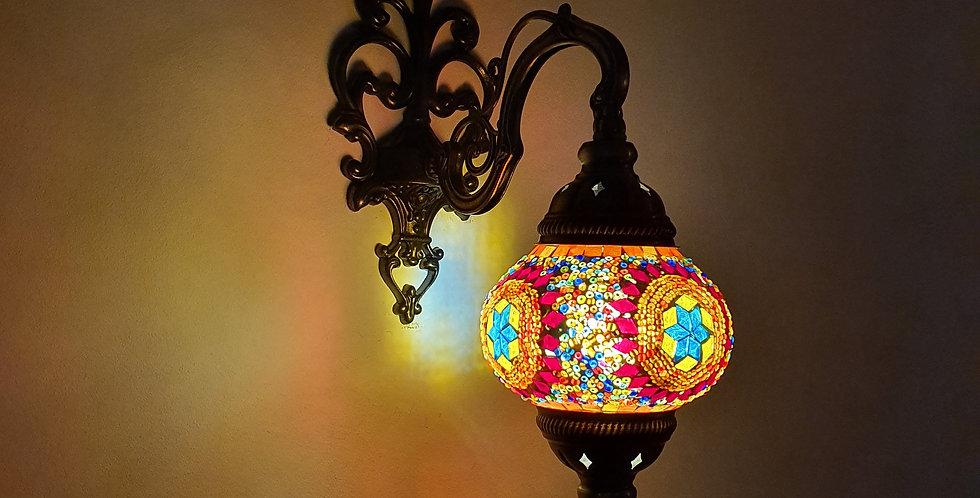 Lámpara turca de pared, globo 13 cm