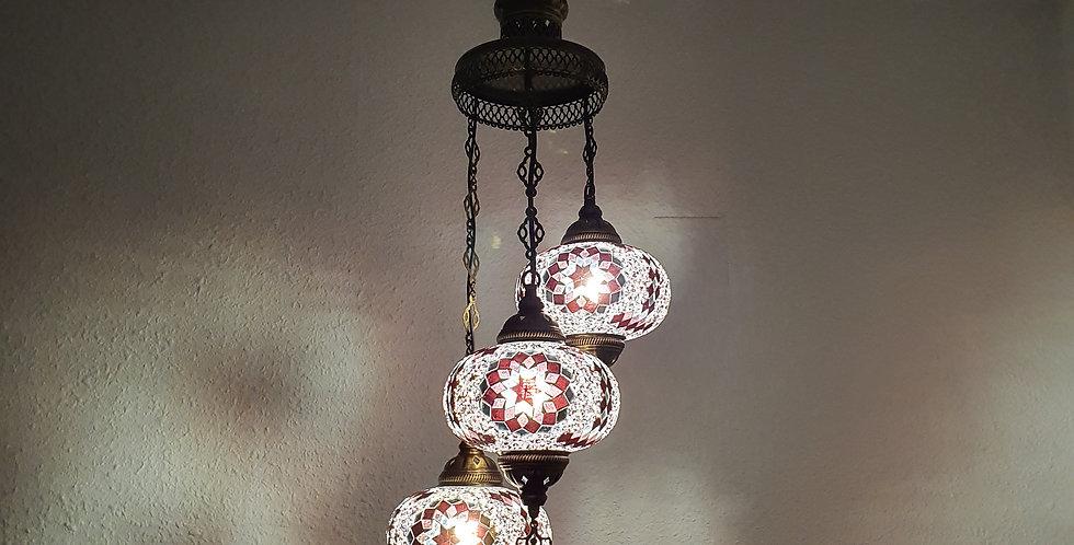 Lámpara turca techo 3 bolas